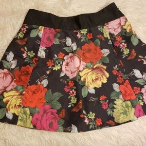 TED BAKER Floral Skirt with mini Pockets